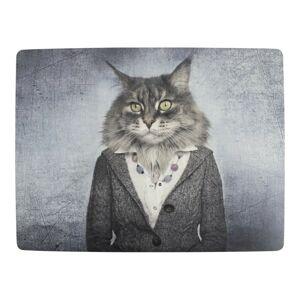 4ks pevné korkové prostírání paní kočka - 30*40*0,4cm