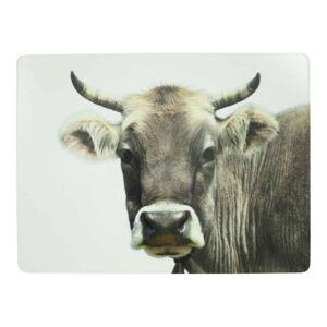 4ks pevné korkové prostírání s motivem švýcarské krávy - 30*40*0,4m