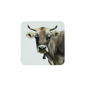 6ks korkové podtácky s motivem švýcarské krávy - 10*10*0,4cm