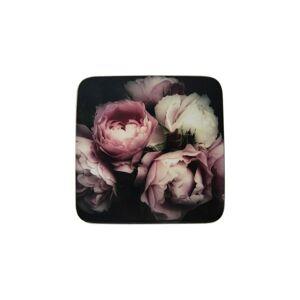 6ks pevné korkové podtácky s růžemi Vintage Roses - 10*10*0,4cm