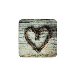 6ks pevné korkové podtácky srdce z větviček Heart Twig - 10*10*0,4cm