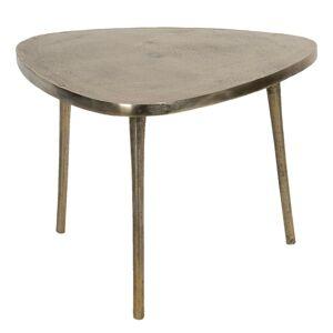 Aluminiový odkládací stolek ve zlaté barvě Asymétrique - 77*77*54 cm