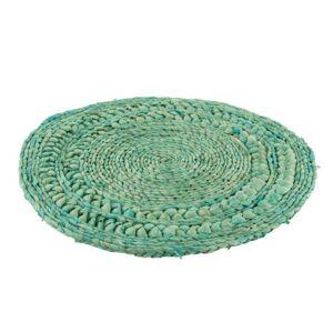 Azurové pletené prostírání Rondy - Ø 38*1 cm