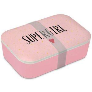 Bambusový svačinový box Supergirl - 20*13*6,5cm PPD