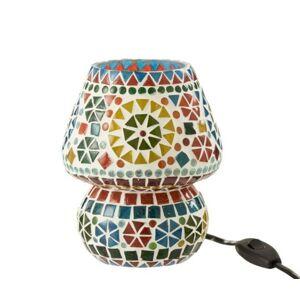 Barevná skleněná stolní lampička Mosaic - Ø14*17cm J-Line