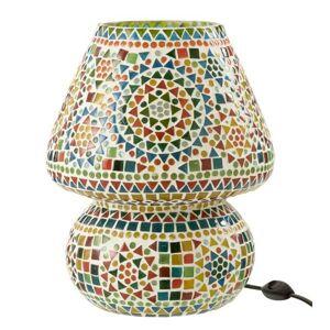 Barevná skleněná stolní lampička Mosaic - Ø26*31cm J-Line