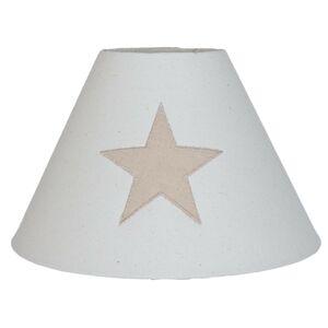 Bavlněné béžové stínidlo na lampu s hvězdou - Ø 25*16 cm Clayre & Eef