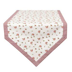 Bavlněný běhoun na stůl s růžemi Romantic Roses - 50*160 cm