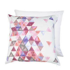 Bavlněný povlak na polštář s barevnými trojúhelníky Watercolours - 50*50 cm Clayre & Eef