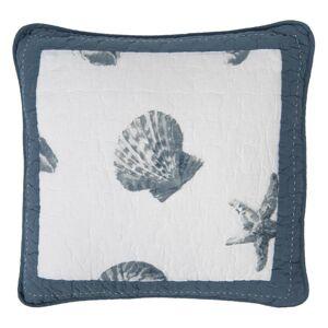Bavlněný povlak na polštář s mušlemi - 40*40 cm Clayre & Eef