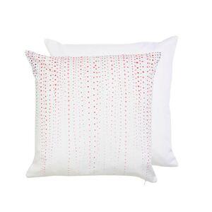 Bavlněný povlak na polštář s růžovými tečkami Watercolours - 40*40 cm Clayre & Eef