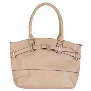 Béžová kabelka 42*12*28 cm Clayre & Eef