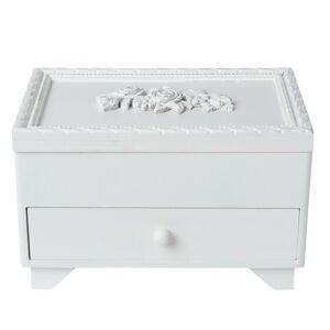 Bílá dřevěná šperkovnice - 20*14*13 cm Clayre & Eef