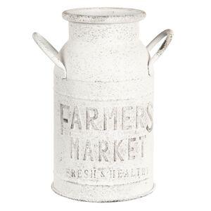 Bílá konev Farmers market - 15*26 cm Clayre & Eef