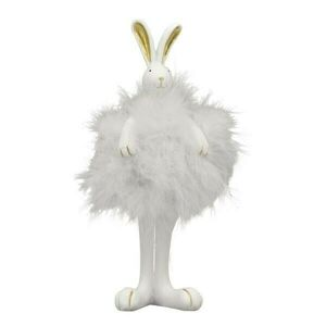 Bílý králíček s peříčky - 16cm Clayre & Eef
