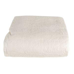 Bílý přehoz na dvoulůžko s 2 povlaky na polštář Aurore - 230*260/ (2) 40*40 cm