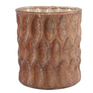Bronzově hnědý svícen na čajovou svíčku - Ø 8*9 cm Clayre & Eef