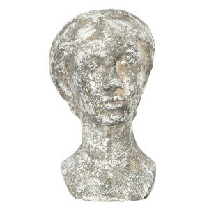 Cementový vintage květináč hlava ženy Marionette - 17*15*27 cm