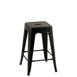 Černá kovová stolička Bistro - 41*41*61cm J-Line