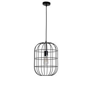 Černé závěsné kovové světlo Olaf - Ø 30*41 cm Collectione