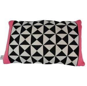 Černo-bílo- růžový polštář Pyramid strawberry - 30*50cm Colmore by Diga