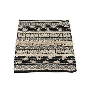 Černo-krémový kobereček Monochrome Boho s třásněmi - 60*90cm J-Line