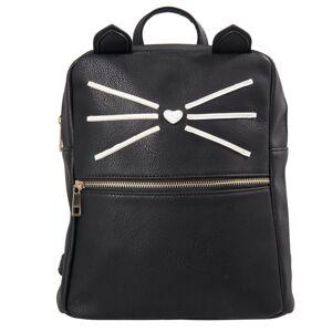 Černý batoh Cat - 24*11*28 cm Juleeze