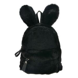 Černý plyšový batoh Verney - 21*11*23 cm Clayre & Eef