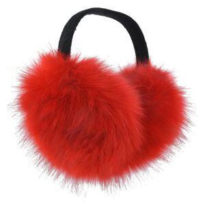 Červené chlupaté klapky na uši -  Ø 15 cm