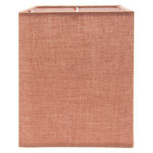 Červené textilní stínidlo - 14*14*18 cm Clayre & Eef