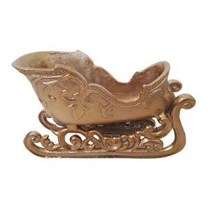 Dekorace bronzové kovové sáňky  - 26*11*15 cm Colmore by Diga