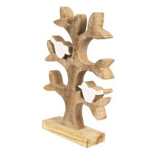 Dekorace dřevěný strom s ptáčky - 26*20*5 cm Clayre & Eef