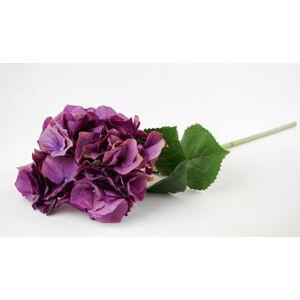 Dekorace fialová hortenzie velkokvětá  - 80 cm