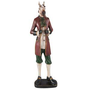Dekorace koně v saku - 12*8*41 cm Clayre & Eef
