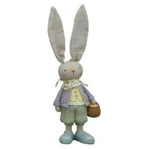 Dekorace králičí chlapec s košíčkem - 9*9*30cm Exner