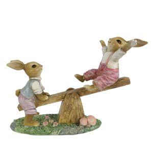 Dekorace králíčků na houpačce - 18*8*13 cm