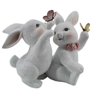 Dekorace králíčků s motýlky - 27*16*21 cm