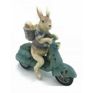Dekorace králík na skútru - 19*7*18 cm Clayre & Eef