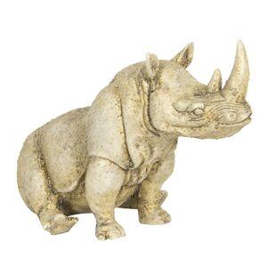 Dekorace nosorožce v antik vzhledu - 32*17*20 cm