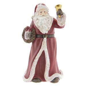 Dekorace Santa se zvonkem -  10*10*19 cm Clayre & Eef