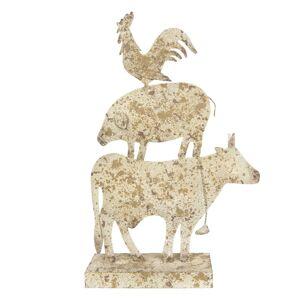 Dekorace zvířat kráva / prase / kohout 35*10*55 cm