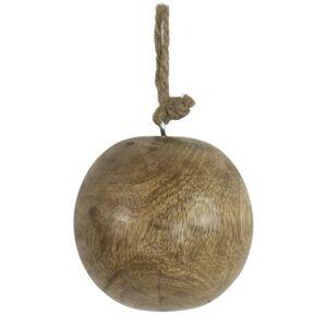 Dekorační dřevěná ozdoba koule  - Ø 10cm