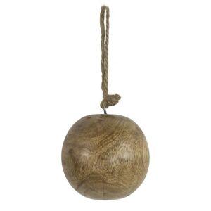 Dekorační dřevěná ozdoba koule  - Ø 7cm