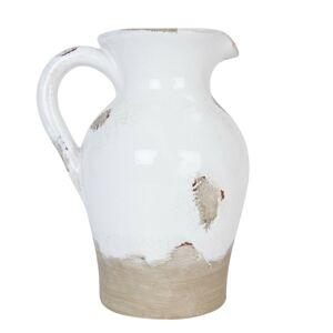 Dekorační keramický džbán s patinou Antique - 15*13*20 cm Clayre & Eef