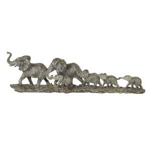 Dekorační sousoší na podstavci Sloní rodina - 53*10*15 cm