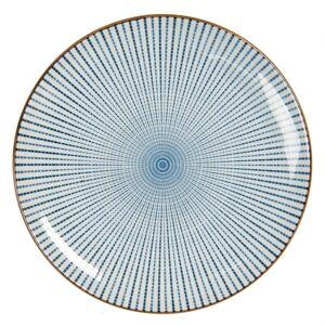 Dezertní talíř s modrým zdobením BlueLine - Ø  21 cm Clayre & Eef