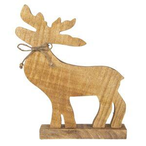 Dřevěná dekorace Jelen - 20*5*32 cm