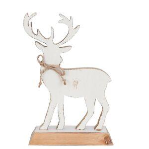 Dřevěná dekorace jelena - 19*7*27 cm Clayre & Eef