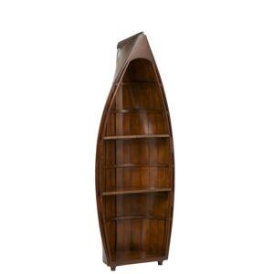 Dřevěná knihovna Boat - 50*25*123 cm J-Line