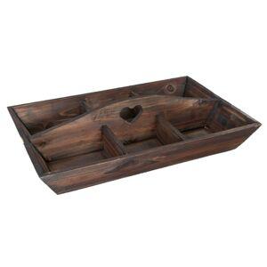 Dřevěný podnos s boxy - 45*30*11 cm Clayre & Eef